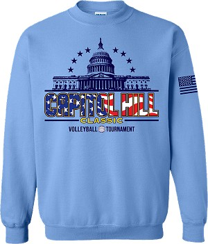 2020 Capitol Hill Classic Crew Neck Sweatshirt, Carolina Blue
