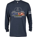 2020 Capitol Hill Classic Long Sleeve T-Shirt in Harbor Blue and White