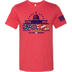 2020 Capitol Hill Classic Short Sleeve Ring Spun T-Shirt available in Heather Red and White